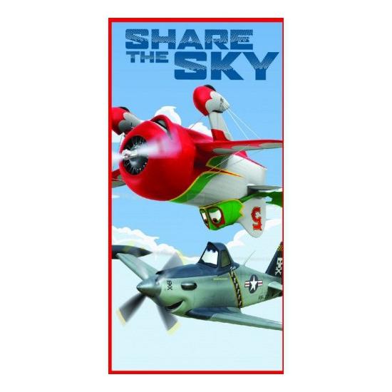 Badlaken planes 70 x 140 cm voor kinderen. strandlaken met plaatjes van disney planes, ongeveer 70 x 140 cm ...