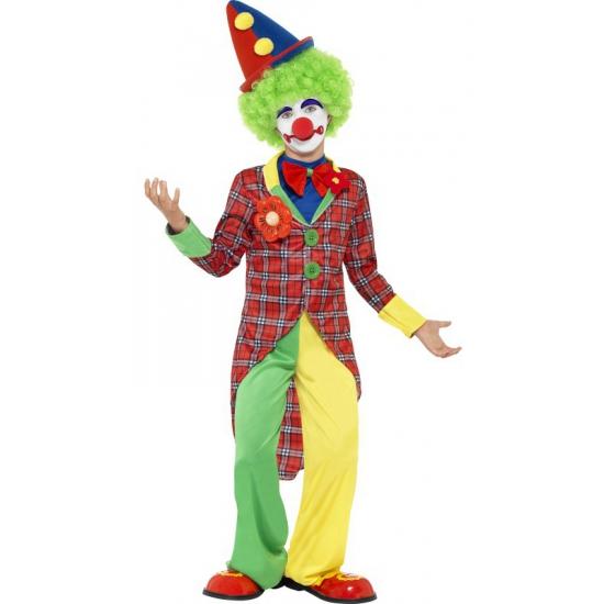 Clown kostuum voor kids. clowns kostuum voor kinderen. het kostuum bestaat uit de broek en de jas met ...