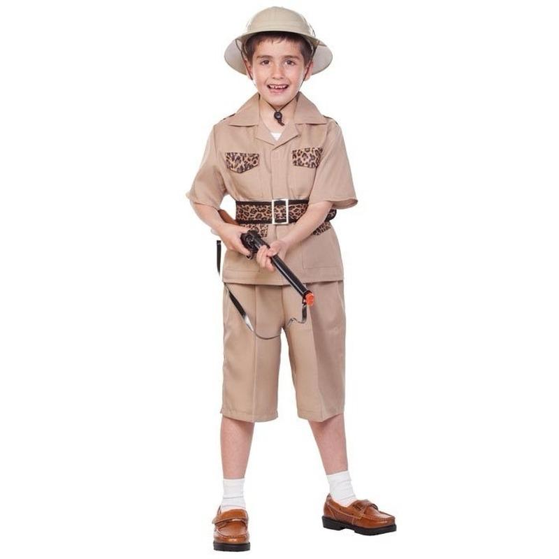 Voordelig safari kostuum voor kinderen. safari kostuum bestaande uit het shirt, de broek en riem. de hoed is ...