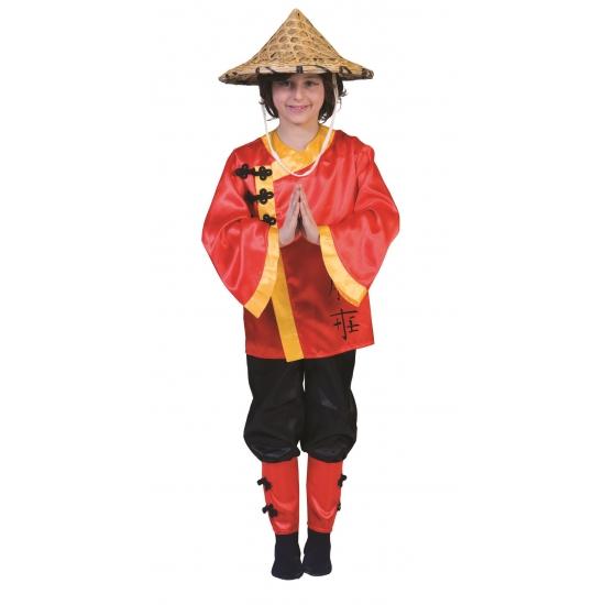 Chinees kostuum voor kinderen. chinees kostuum voor kinderen. het kostuum bevat de broek, het jasje maar is ...