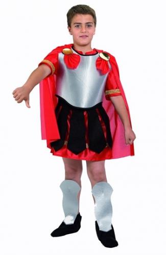 Romeinse gladiator kostuum voor kinderen. romeinse soldaat of gladiator kostuum voor kinderen met rode cape. ...