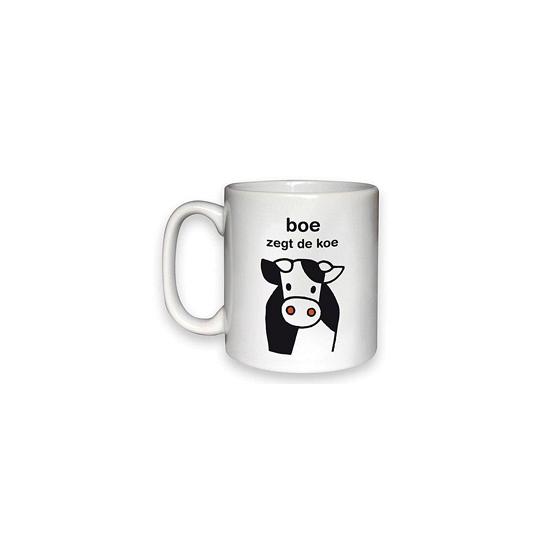 Koffiemok Nijntje boe zegt de koe