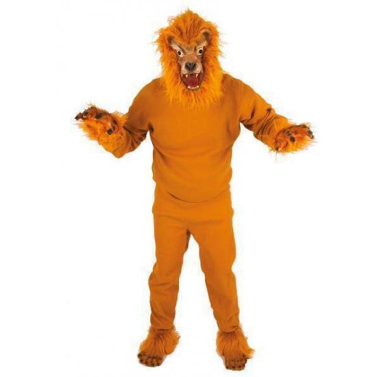 Leeuw kostuum voor volwassenen. dit leeuwen kostuum is inclusief leeuwenkop als hoofdbedekking. leuk leeuwen ...