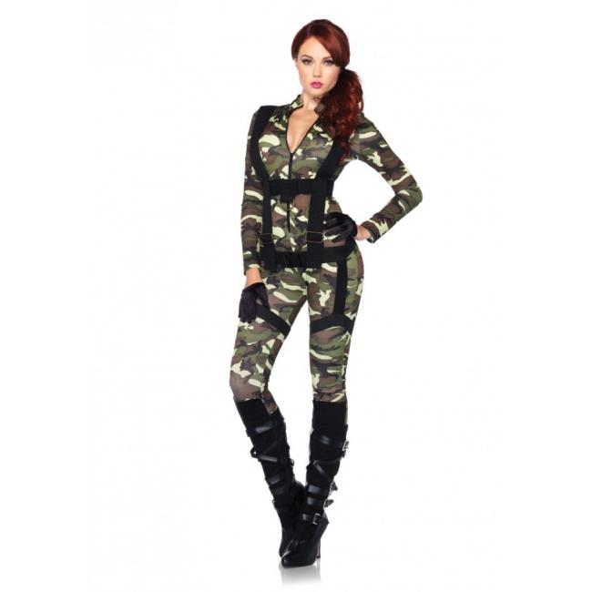 Leg Avenue camouflage parachutist kostuum