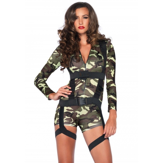 Leg Avenue commando leger kostuum voor dames