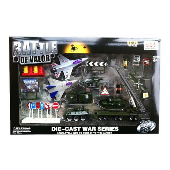 Militaire voertuigen speelset