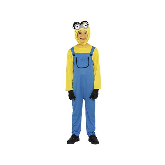Mini jongen kostuum. een grappig kostuum van een geel poppetje. dit kostuum is inclusief: jumpsuit, shirt, ...