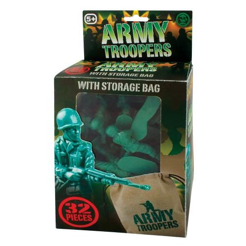 Plastic legerpoppetjes 32 stuks