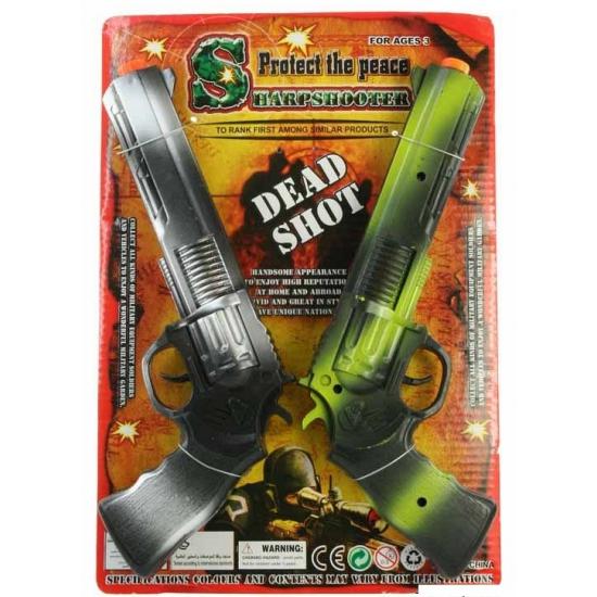 Plastic ratelgeweer 2 stuks