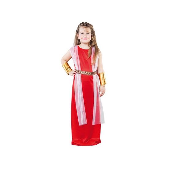 Voordelig romeins jurkje voor meiden. romeins kostuum voor meisjes bestaande uit de jurk met sjaal. ...