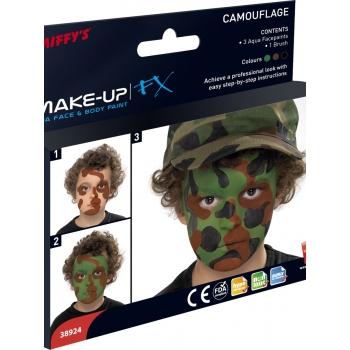 Schmink pakket camouflage kleuren