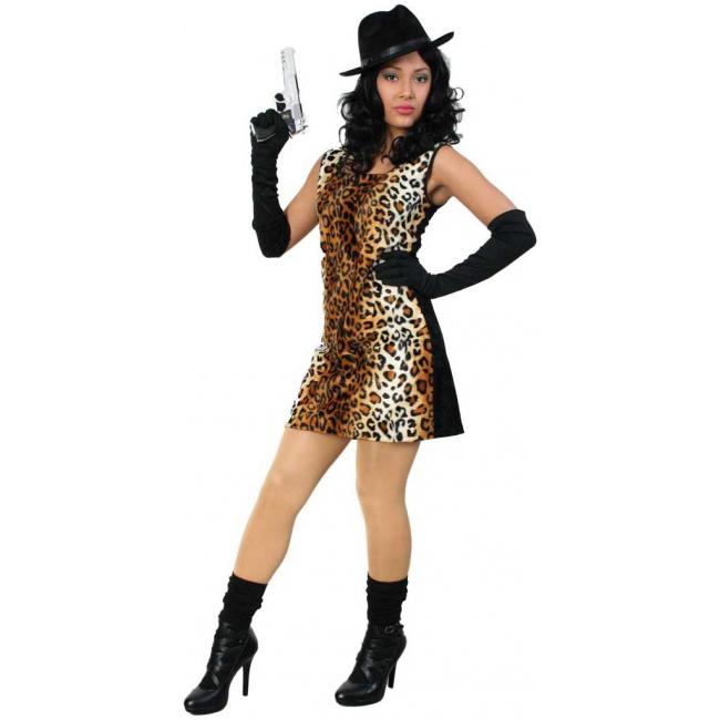 Sexy tijgerprint jurkje voor dames. sexy jurkje met een tijgerprint bedrukte voorkant en een zwarte ...