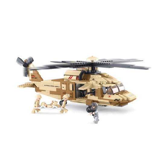 Sluban bouwstenen Black hawk helikopter