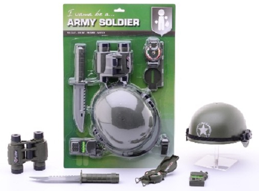 Soldaten verkleed accessoires van kantoor artikelen tip.