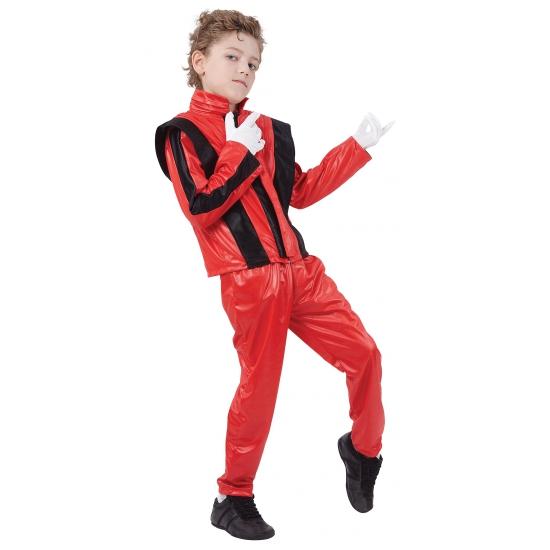 Michael kostuum thriller voor kinderen. het bekende rode pakje dat michael draagt in de videoclip thriller. ...