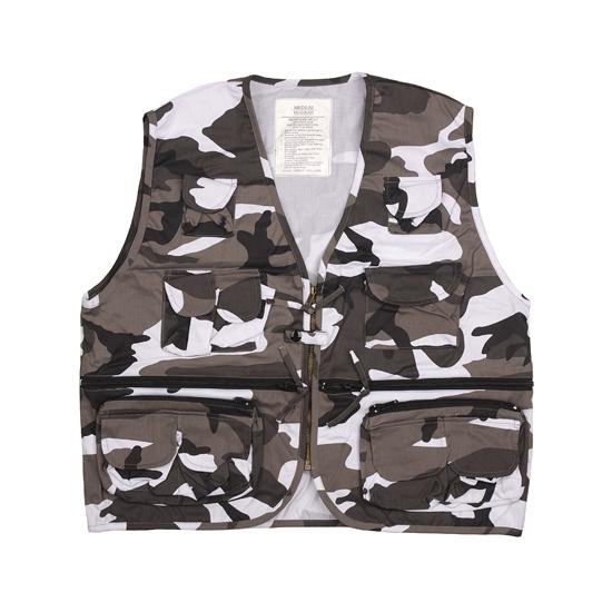 Urban camouflage bodywarmer