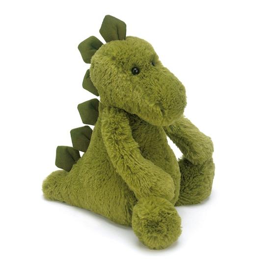 Zachte pluche dino knuffel groen 21 cm