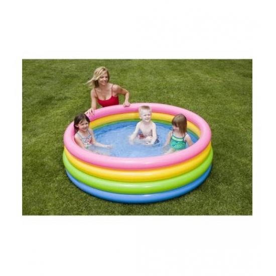 Zwembad met neon kleuren 168 cm