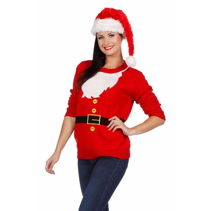Kersttrui Hert.Foute Kersttrui Kerstmannen Pak Voor Dames Camouflage Kersttruien